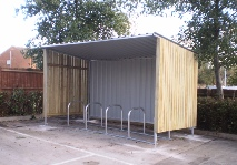 cycle shelter hut